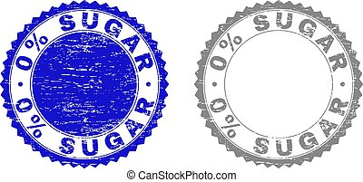 Textured 0% SUGAR Scratched Stamp Seals with Ribbon