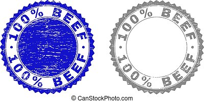Textured 100% BEEF Scratched Stamp Seals with Ribbon