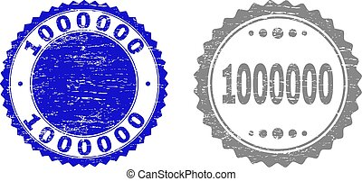 Textured 1000000 Scratched Stamp Seals with Ribbon