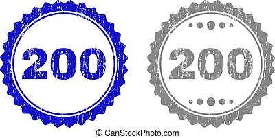 Textured 200 Scratched Stamp Seals with Ribbon