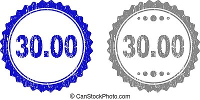 Textured 30.00 Scratched Stamp Seals with Ribbon