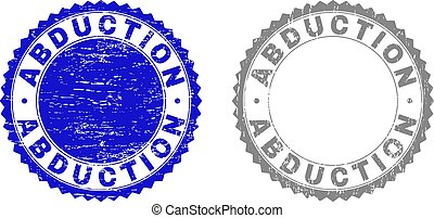 Textured ABDUCTION Scratched Stamp Seals with Ribbon