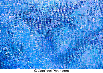 textured abstract blue painting