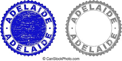Textured ADELAIDE Scratched Stamp Seals with Ribbon