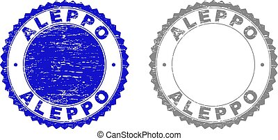 Textured ALEPPO Scratched Stamps with Ribbon