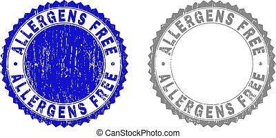 Textured ALLERGENS FREE Scratched Stamp Seals with Ribbon