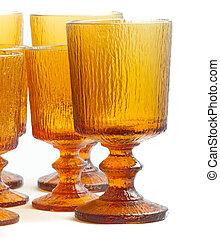 Textured Amber Glasses