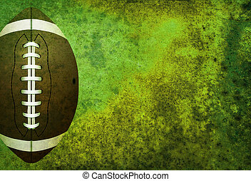 Textured American Football Field Background with Ball