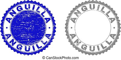Textured ANGUILLA Scratched Stamp Seals
