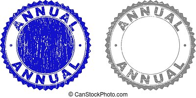 Textured ANNUAL Scratched Stamp Seals