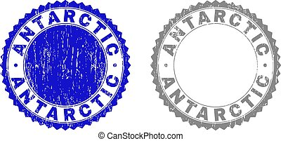 Textured ANTARCTIC Scratched Stamp Seals