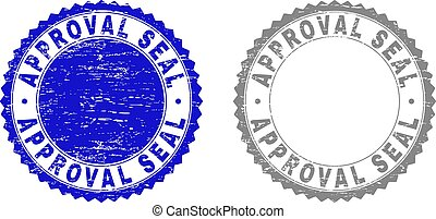 Textured APPROVAL SEAL Grunge Watermarks