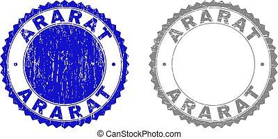 Textured ARARAT Scratched Stamp Seals