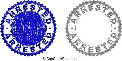 Textured ARRESTED Scratched Stamp Seals