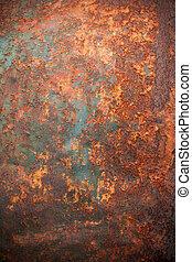 textured, arrugginito, backround, metallo