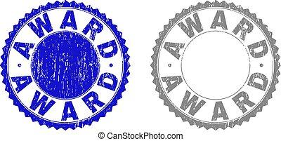 Textured AWARD Grunge Stamp Seals