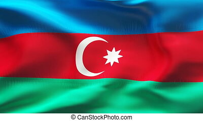 Textured AZERBAIJAN cotton flag