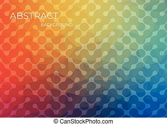 Textured background design in flat style with orange color. EPS10