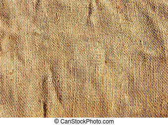 Textured background of a brown burlap cloth