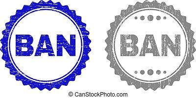 Textured BAN Scratched Stamp Seals