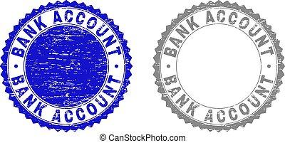 Textured BANK ACCOUNT Grunge Stamps - Grunge BANK ACCOUNT...