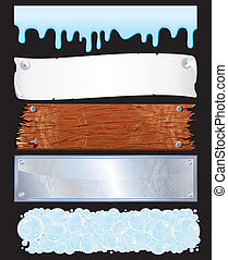 Textured Banners - Assorted template for banners-various...