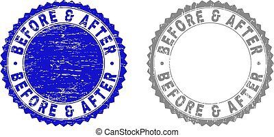 Textured BEFORE & AFTER Grunge Stamps - Grunge BEFORE &...