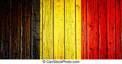 Textured Belgium flagged wooden table