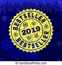 Textured BESTSELLER Stamp Seal on Winter Background
