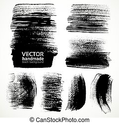 Textured brush strokes of ink