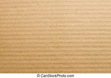 Textured cardboard - Biege textured cardboard background