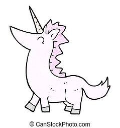 textured, cartone animato, unicorno