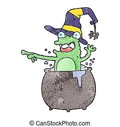 textured cartoon halloween toad - freehand textured cartoon...