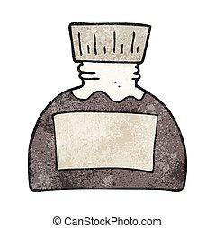 textured cartoon ink pot - freehand textured cartoon ink pot