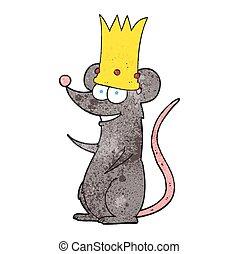 textured cartoon king rat - freehand textured cartoon rat...