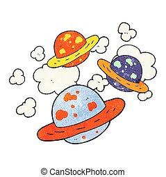 textured cartoon planets