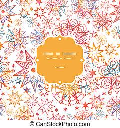 Textured Christmas Stars Frame Seamless Pattern Background
