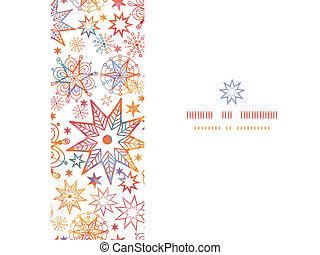 Textured Christmas Stars Horizontal Seamless Pattern Background