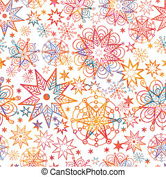 Textured Christmas Stars Seamless Pattern Background -...