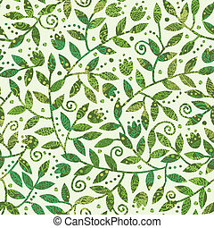 Textured Colorful Branches Seamless Pattern Background -...