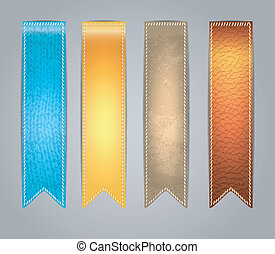 Textured colorful Stickers - Vector illustration of Textured...