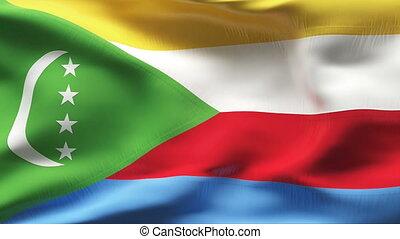 Textured COMOROS cotton flag - Textured COMOROS cotton flag...