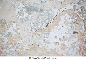 Textured concrete background. Cracks, old wall.