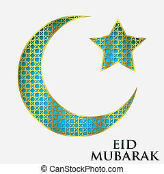 Textured crescent moon Ramadan card in vector format.