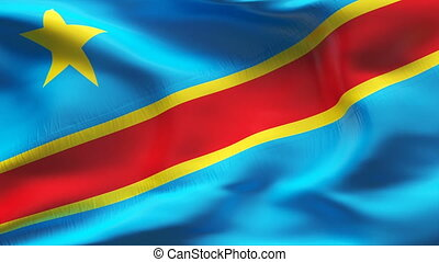Textured DEMOCRATIC KONGO  cotton flag
