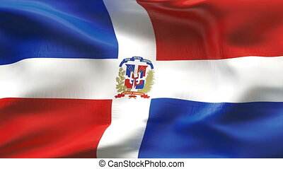 Textured DOMINICAN REPUBLIC cotton flag