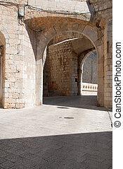 Textured European stone passageway - Historic european ...