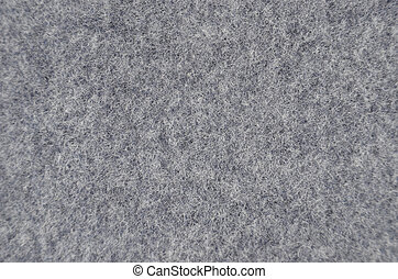 Textured felt background - Close up of gray synthetical fet...