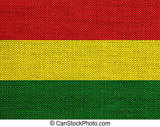 Textured flag of Bolivia in nice colors