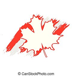 Textured flag of Canada